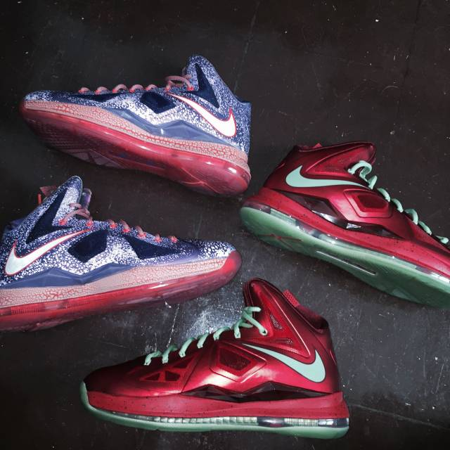 LEBRON TEN SIZE 10 DEADSTOCK AREA 72 AND CHRISTMAS ...
