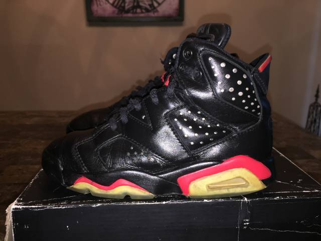 c417783ba19871 ... new arrivals nike air jordan 6 og 1991 black infrared sz. 3 d2e37 d7930