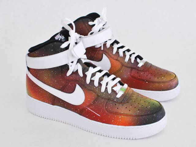 3564a7f310f Custom Solar Flare Galaxy Air Force One Nike Sneakers