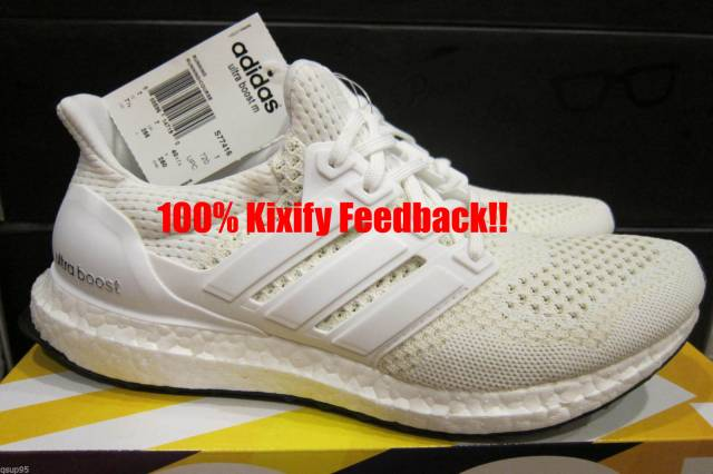 027f9df70d0b1 Adidas White Ultra Boost Black Bottom S77416 Free shipping