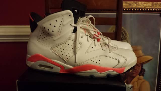 Mens Air Jordan Retro 6 White shoes