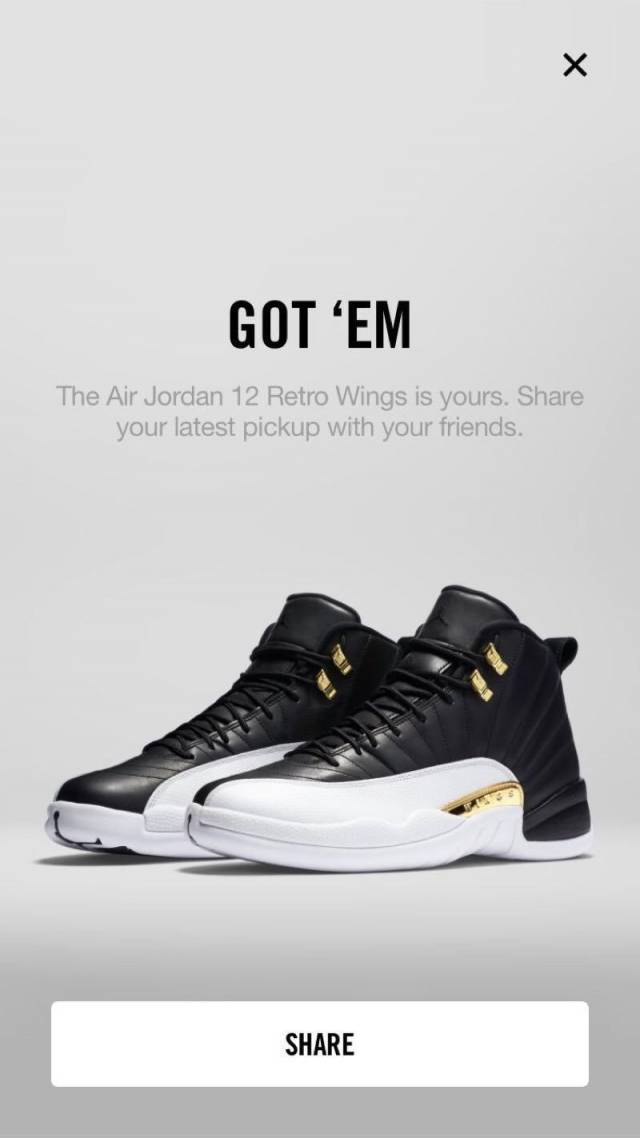 new concept 08630 2e857 official air jordan 12 wings size 9.5 1 of 12000 be0ef dedf4