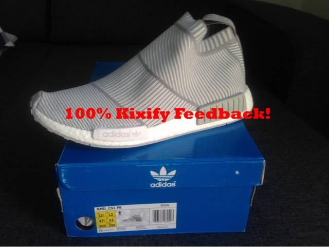 White Adidas NMD City Sock CS1 Size 11.5 100% Authentic