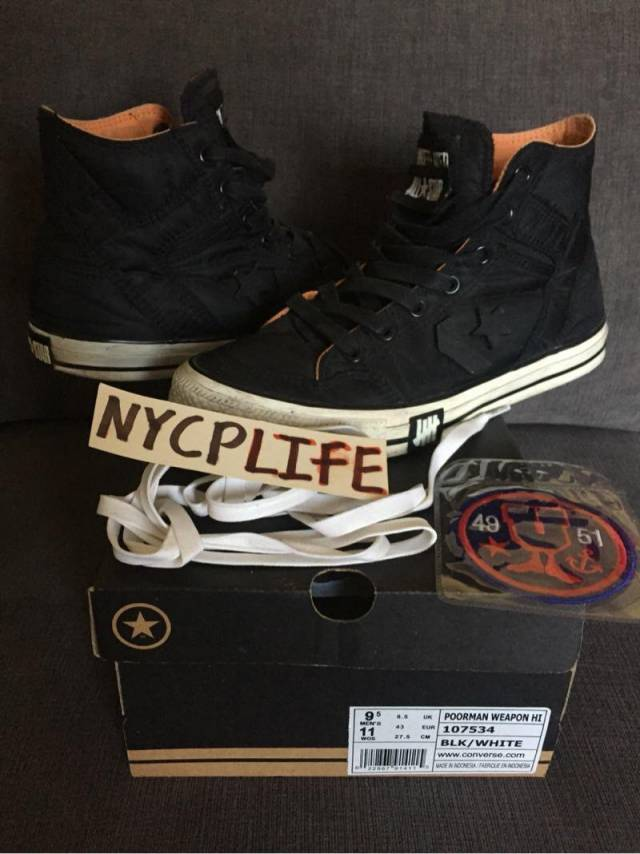 592938e9a5a6 Undefeated converse poor man weapon Sz 9.5