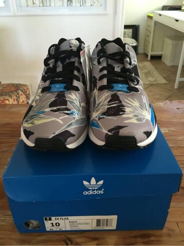 2d61ded0e ... italy adidas zx flux birds of paradise grey blue us10 cf009 e32e9
