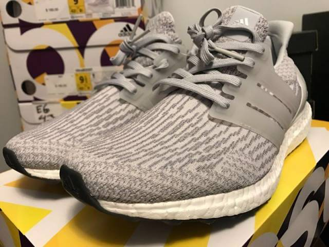 Adidas Ultra Boost 3.0 Black Gray Size 8.5 Ultraboost Primeknit