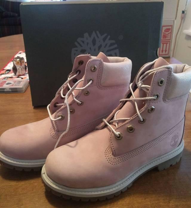 Women s blush pink waterproof Timberland boots  8833bea41c