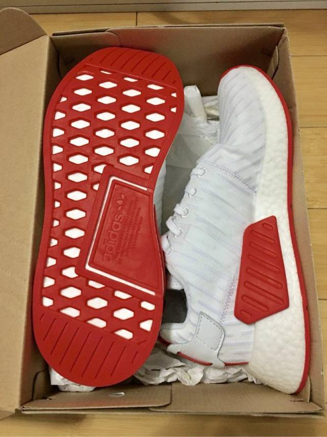 Adidas NMD R_2 PK Nomad White Core Red
