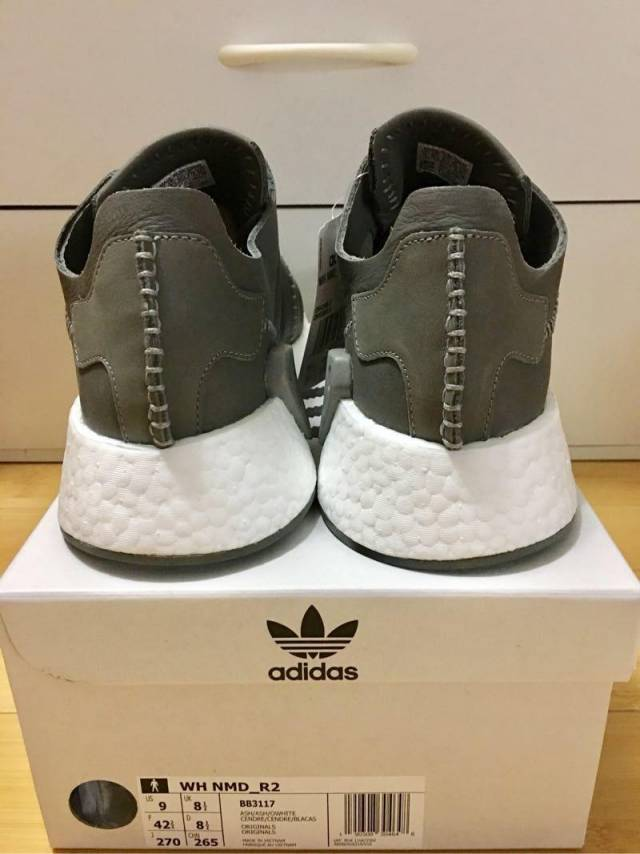bb3139947bd6a Adidas NMD R 2 Wings+Horns Leather Grey Ash BB3117 Men 9 US