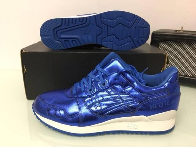 new arrival 60dec 4c33a Asics Gel Lyte Lll 3 Metallic Blue Size 6