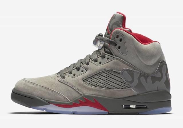 Air Jordan 5 Camo Dark Stucco/Fire Red