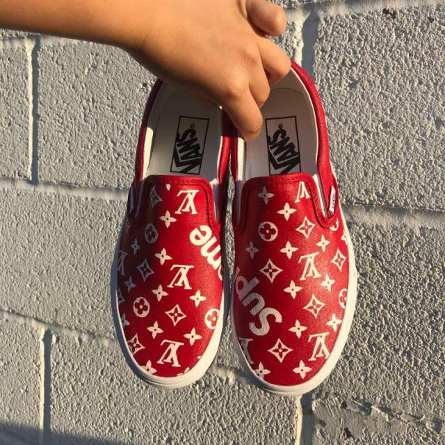 Louis Vuitton X Supreme Custom Vans