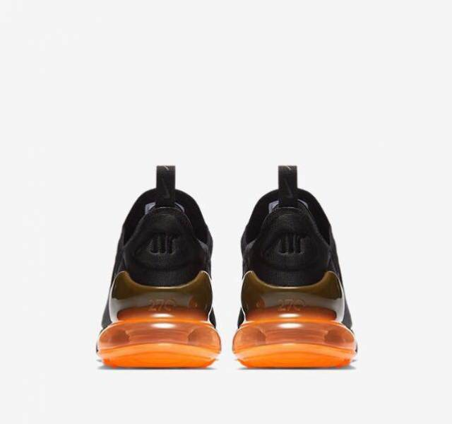 Nike Air Max 270 Black Total Orange Mens Kixify Marketplace