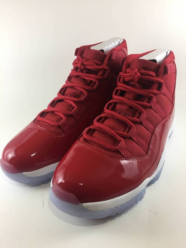 Nike Air Jordan XI 11  Gym Red  Win like 96  378037-623   d82f7b90ce