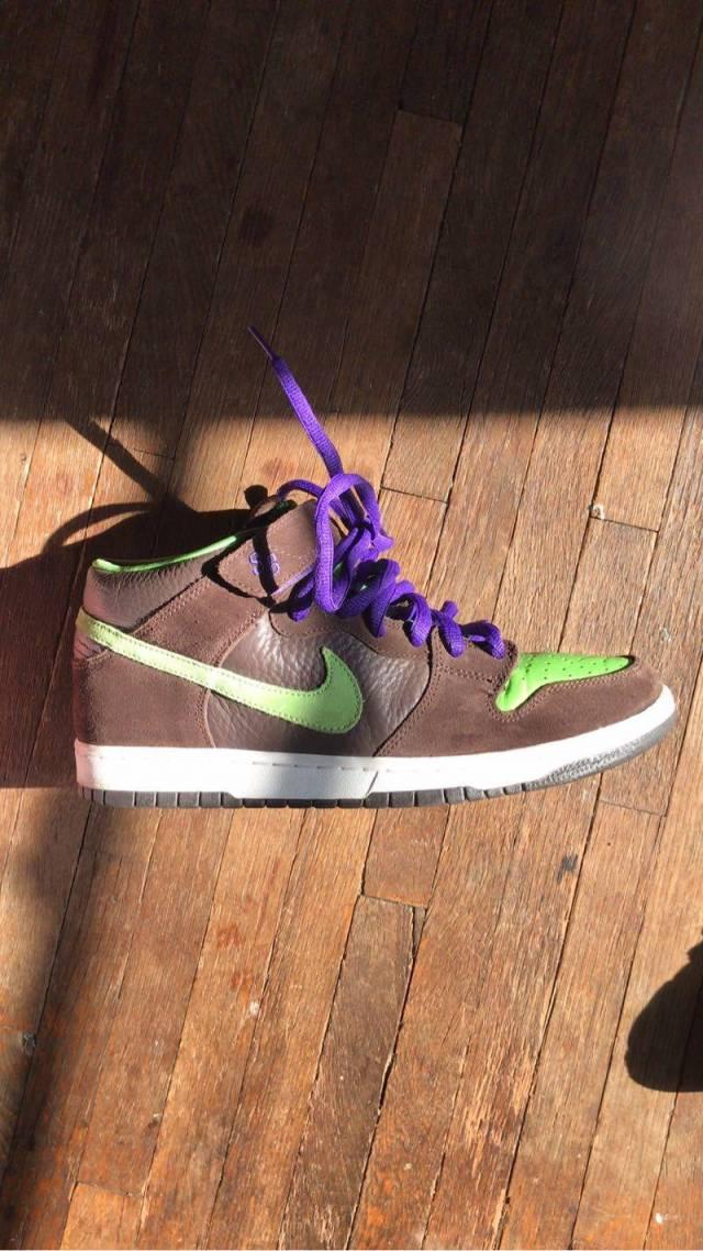 super popular 475c5 e5477 Nike Dunk Mid SB – Donatello (Teenage Mutant Ninja Turtles) size 10.5