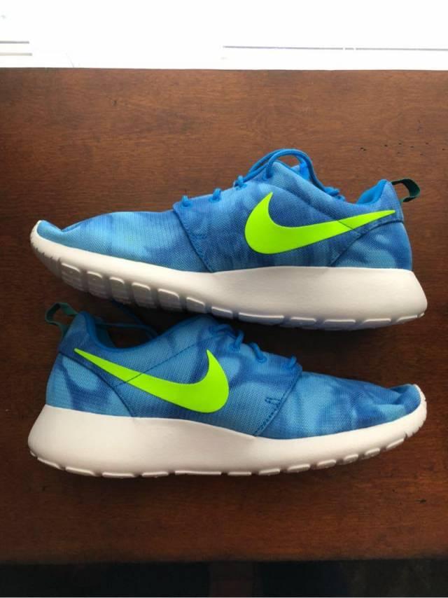 separation shoes 2c67b 62b26 ... australia nike roshe run photo electric blue 655206 430 mens 9812d b836c