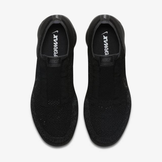 Nike Vapormax triple black Laceless