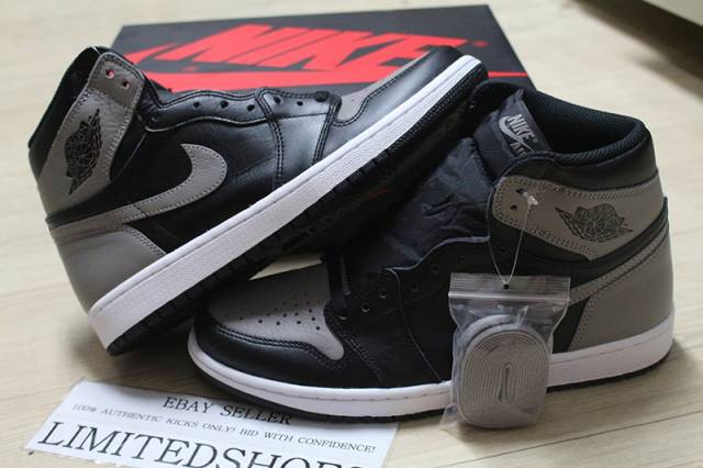 e0e0375ea8ff0 2018 NIKE AIR JORDAN 1 RETRO HIGH OG SHADOW BLACK 555088-013 ...