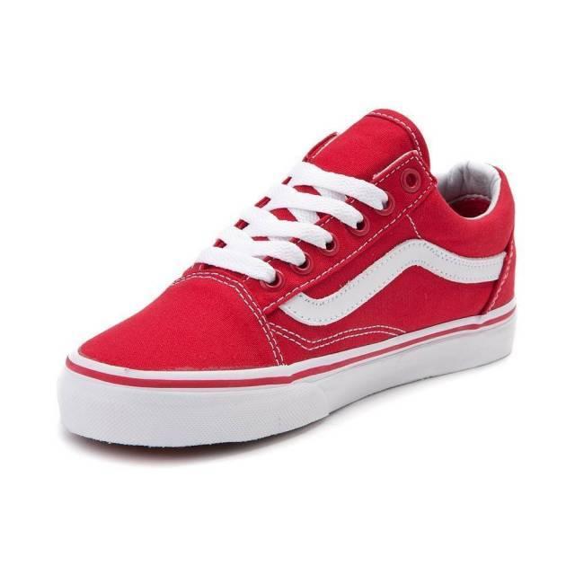 vans old skool red and white