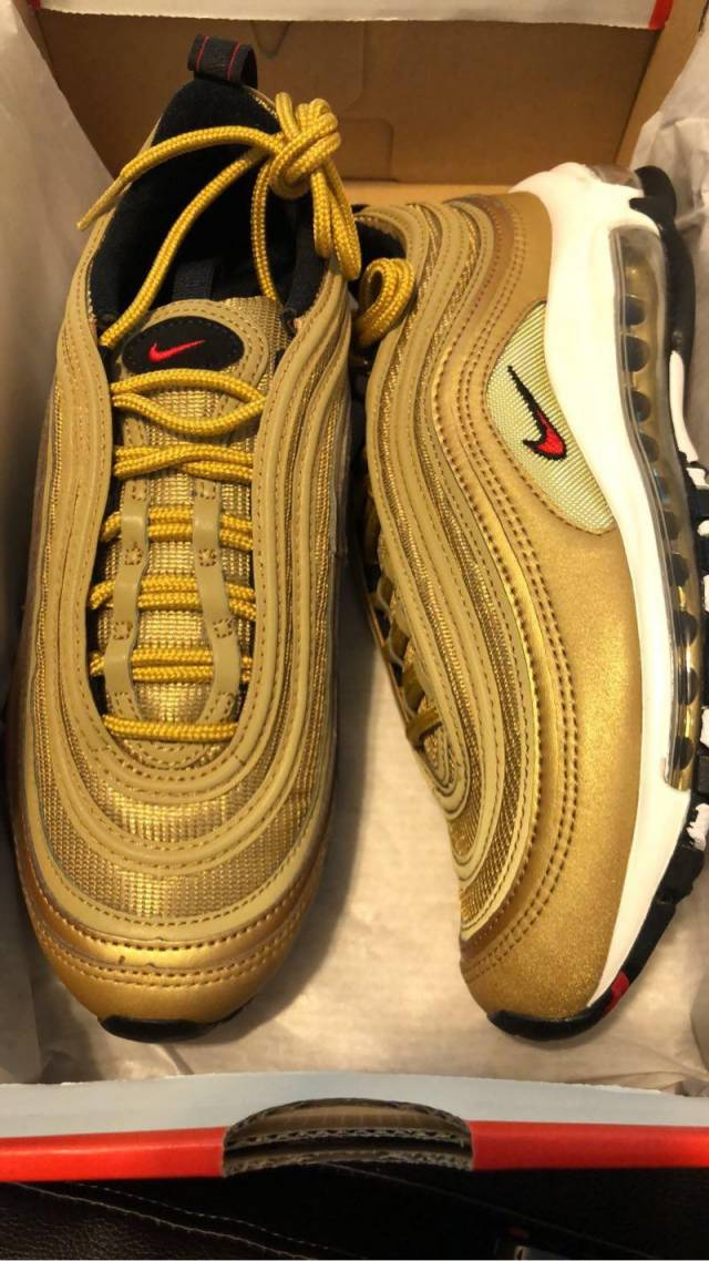 Nike Air Max 97 Metallic Gold Women s  17148de849
