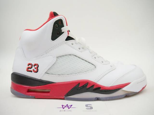 sports shoes 3c358 749a6 AIR JORDAN 5 RETRO FIRE RED BLACK TONGUE SZ 12 136027-120 DS