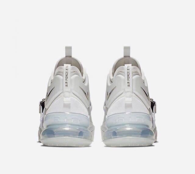 new style a540c eeb00 Nike Air Force 270 White Metallic Silver