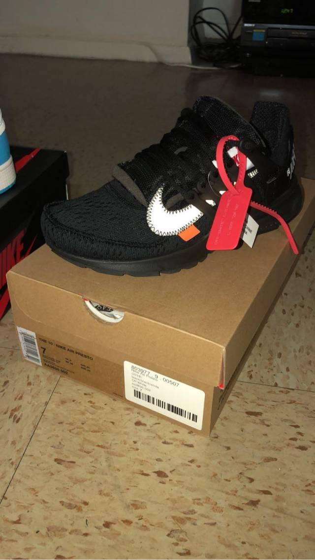 8b06ba4cea8a OFF-WHITE x Nike Air Presto Black