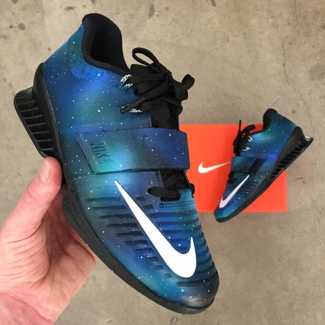 8688f353f02d Custom Hand Painted Nike Romaleos 3 Weightlifting Shoes Kixify
