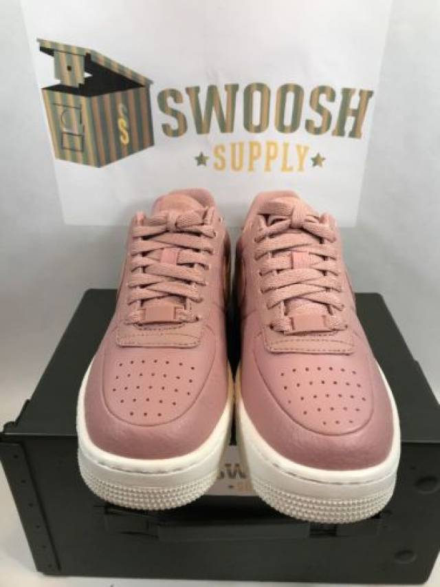 4f0e6506 Nike Womens Air Force 1 Upstep Basketball Shoes 917588-601 Particle Pink Sz  8.5