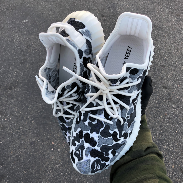 Custom Painted BAPE Adidas Yeezys