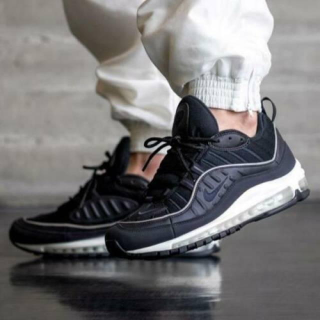 Nike Air Max 98 Black Size 8 9 10 11 12 Mens Shoes 6407...