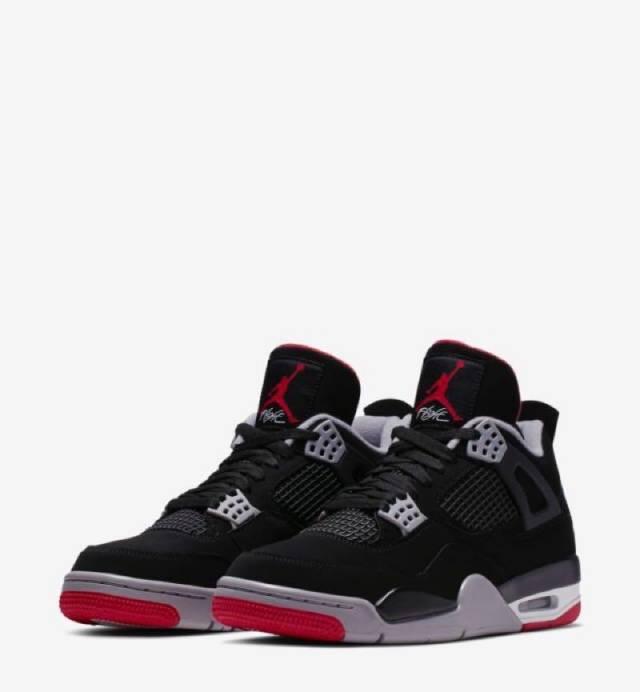 5c6f2d8d Air Jordan 4 Retro OG Bred 2019 Black Cement (men's) 308497-060 ...