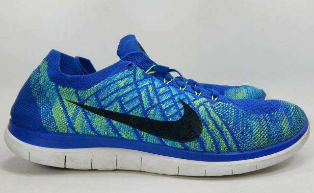 Populære Nike Free 4.0 Flyknit US 14 M (D) EU 48.5 Men's Running Shoes Blue DH-67