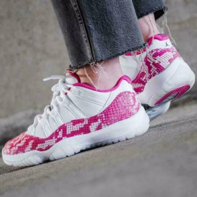 Nike Jordan 11 Retro Low Pink Snakeskin
