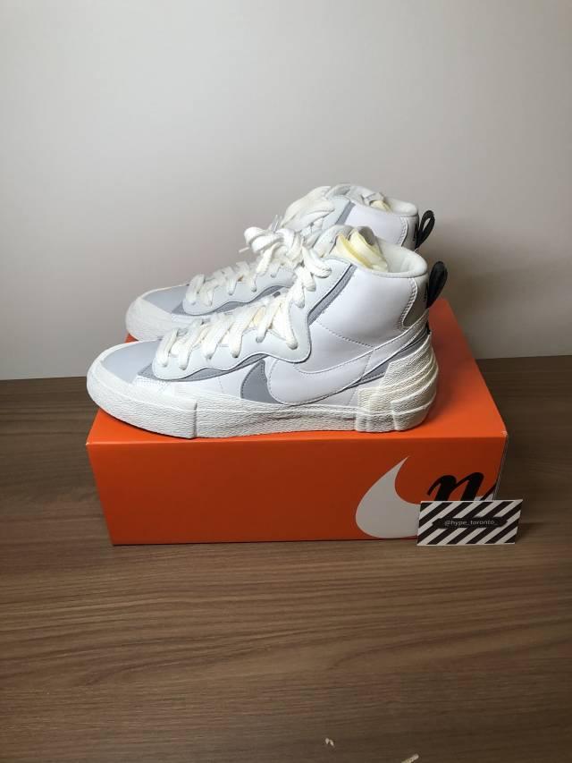Leyes y regulaciones Fugaz grandioso  Sacai x Nike Blazer Mid White Wolf Grey | Kixify Marketplace