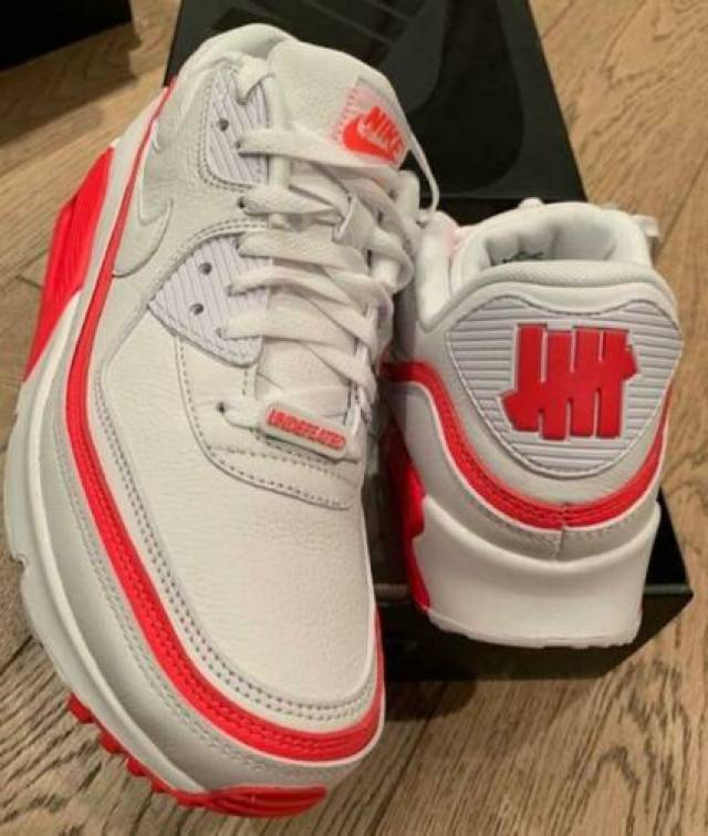 Nike Air Max 90 Undefeated White Solar Red Mens Shoes Kixify