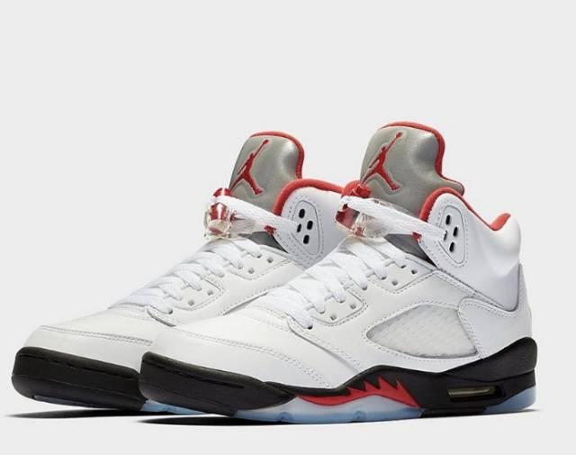 Nike Air Jordan 5 Retro Fire Red 5s GS