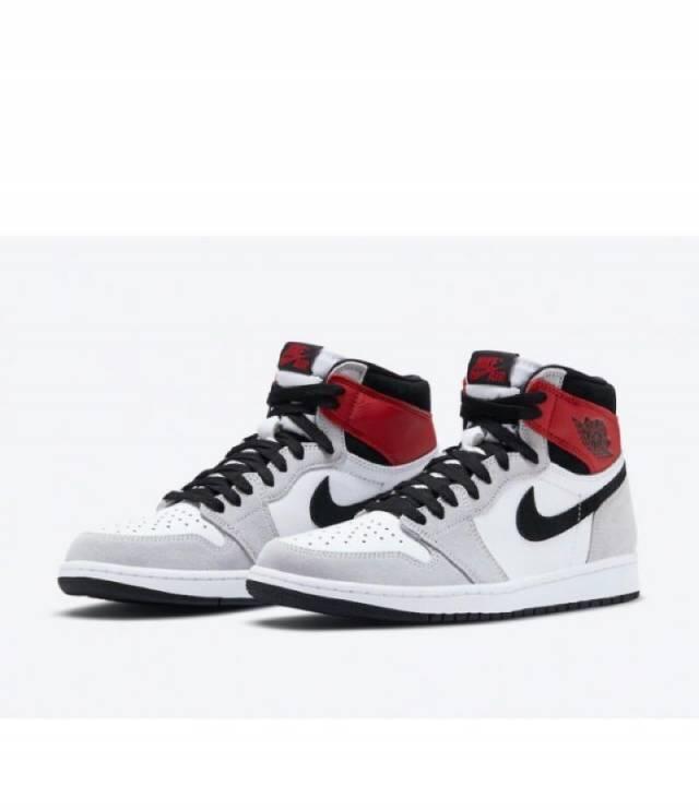 Air Jordan 1 Retro High Og Light Smoke Grey Red Black Mens