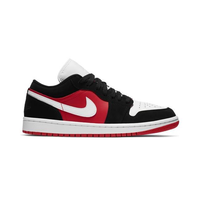 Air Jordan 1 Low Wmns Black White Gym Red