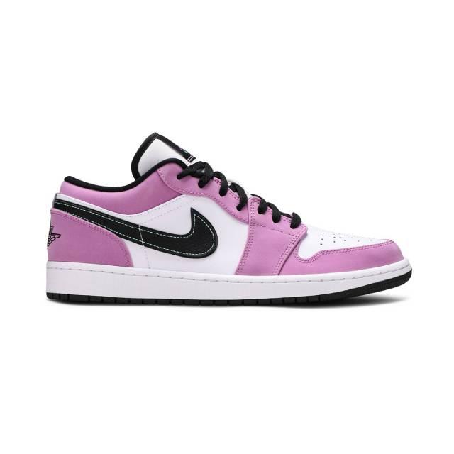 Nike Air Jordan 1 Low Se (light Purple/ White/ ...