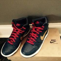 Nike dunk high obsidian metall...