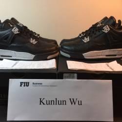 Nike air jordan 4 gs black whi...