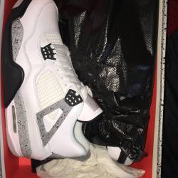 Air jordan retro 4 white cemen...