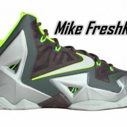 Lebron xi 11 dunkman green vol...