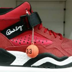 Patrick ewing cherry red black...