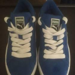Puma suede classics blue and w...