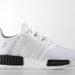 Adidas nmd r1 white black core...