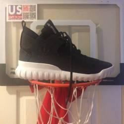 Adidas tubular x black and white