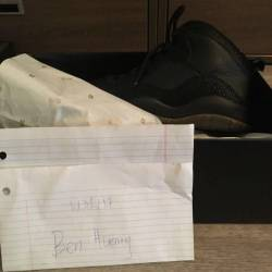 Jordan 10 retro ovo black