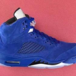 Air jordan 5 blue suede 136021...